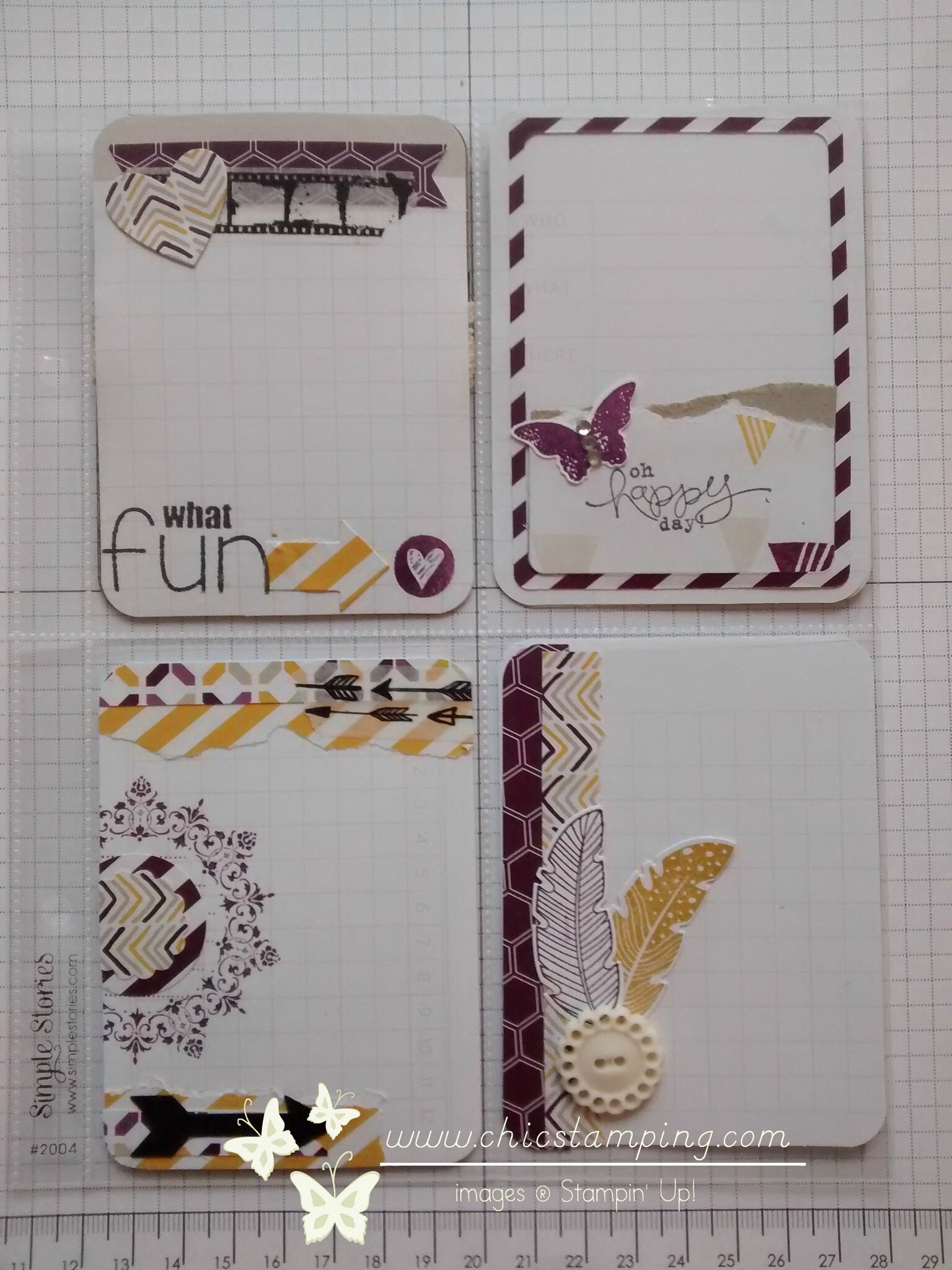 DIY card - serie washi & scrap papers