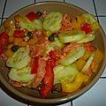 Salade de saumon fumé toute en fraîcheur