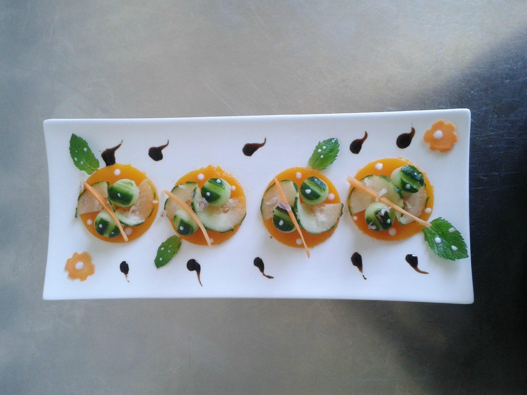 salade de carotte-concombre ( du chef Custos) entrée d'été