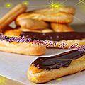 Eclairs au chocolat (rapide)