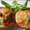 Spicy muffins with lettuce