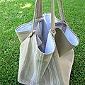 très grand sac <b>toile</b> <b>à</b> <b>matelas</b>, lin brut, textiles anciens