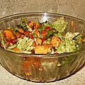 Salade de patates douces aux raisins secs et aux noix de cajou