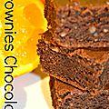Brownies chocolat, orange, praliné, amande