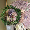 Mon coussin granny fleurs , sc n° 195