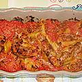 Conchiglioni de veau gratinés à la parmesane