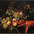 Cornelis de heem (1631-1695), un homard, des fruits et fleurs