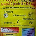 Participation de l'atelier théâtre au Festicréateur de Pinet