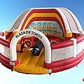 L'arène gonflable <b>Happycionado</b> présente lors de la Feria d'Istres !