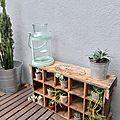 Diy une étagère à cactus ou mini plantes