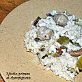 Risotto poireau et champignons