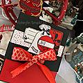 Mini Album accordéon et sa boite Noel