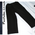 Pantalon citronille velours noir