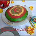 Gâteau marbré multicolore