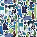 zoo en bleu
