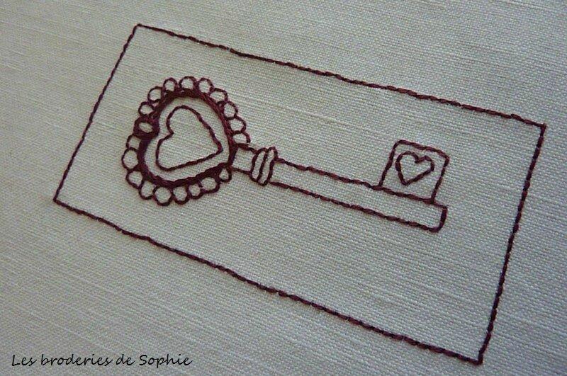 Brodeire clé sachet de lavande (1)