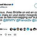 Communiqué de macron sur twitter au sujet de ses vacances à marseille