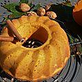 Cake extra moelleux à la citrouille carat-pommes-noix-canelle...