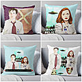Agent Dana Scully FBI pillow,coussin,cushion on Redbubble