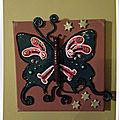 Tableau 15*15 cm pour chambre, d'une petite princesse surnommée papillon