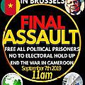 Le Point sur la préparation de l'action dite <b>Assaut</b> Final de Bruxelles 6-7 septembre 2019