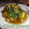 Tajine d'agneau aux olives, artichauts et pomme de terre