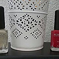Nail lacquer (274 gold microglliter/240 apple red) kiko