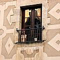 Barcelone, mannequin, fenêtre, insolite_6047