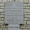 Maillé, mémorial