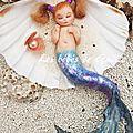 Sirène aux petites couettes ( 30€ )