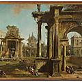 Giovanni Antonio Canal, called <b>Canaletto</b> (Venice 1697-1768), Architectural Capriccio with Classical Ruins