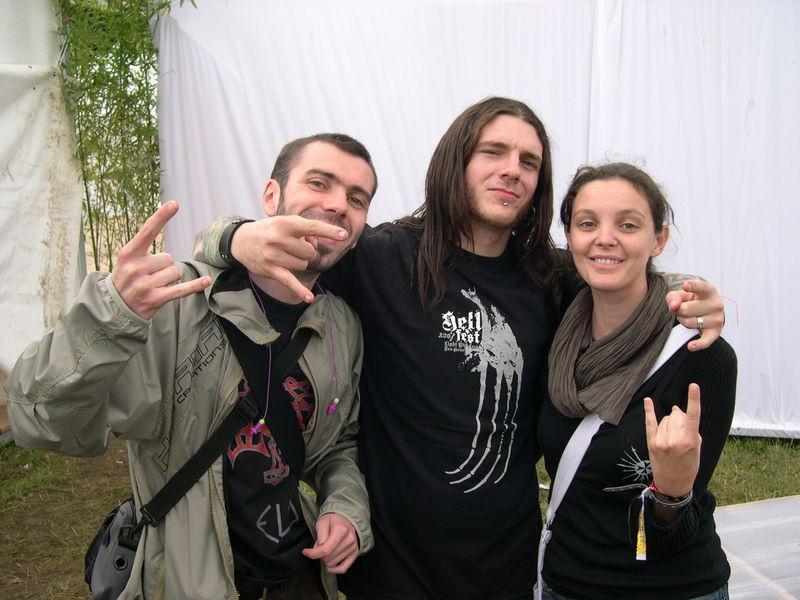 SLIT avec Franco son chanteur (originaire de l'île de Malte) et Céline (Anticulture Rec.)