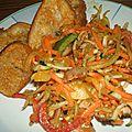 Salade composee au poulet et croutons