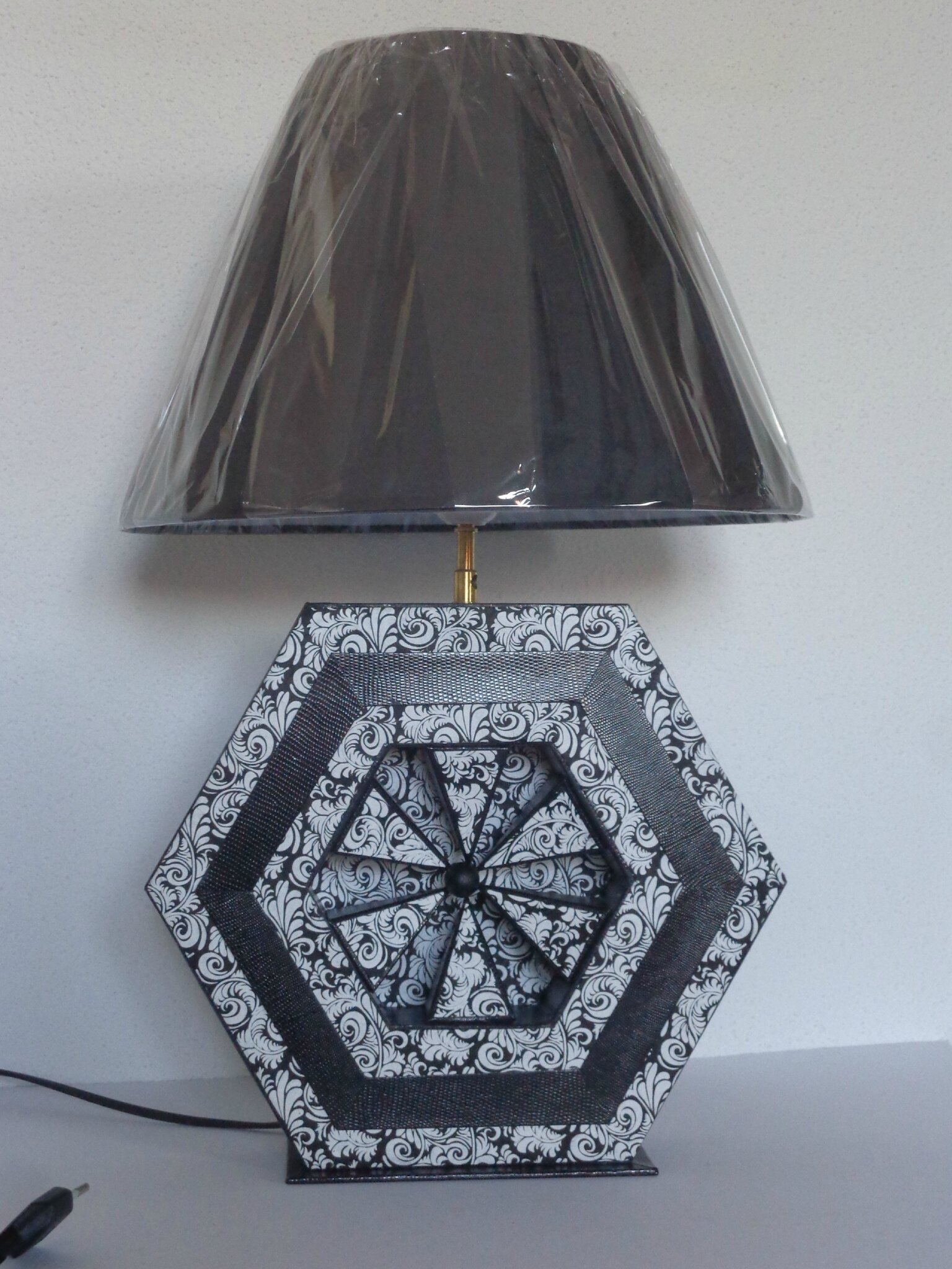 Lampe hexagonale