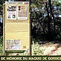 Samedi 17 octobre 2015 à <b>GORDES</b>: inauguration des sentiers de Mémoire du Maquis de <b>Gordes</b>