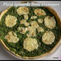 Pizza epinards trois fromages