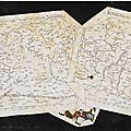 An Italian scagliola trompe l'oeil table <b>top</b> depicting maps of the Middle East, possibly Tuscan and by Carlo Gibertoni