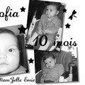 Sofia a 10 mois !