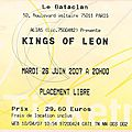 Kings of leon - mardi 26 juin 2007 -bataclan (paris)