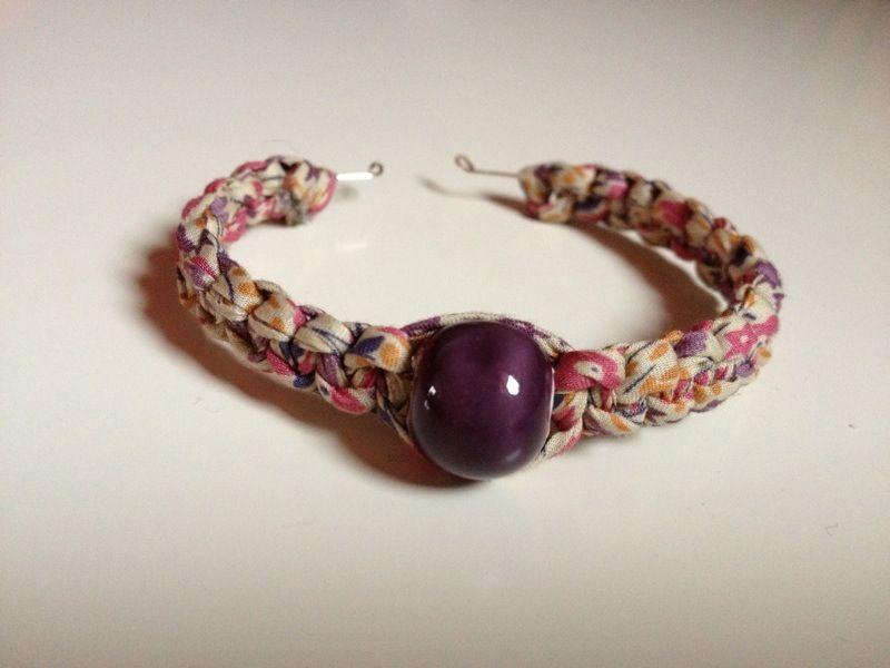 bracelet perle ceramique
