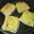 Bricks farcis à l'amarante, au chou vert et aux pommes de terre