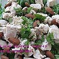 Salade de poulet aux amandes et à la menthe