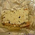 Papillote de saumon au fromage de chèvre