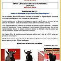 FSTF - restitution qu Questionnaire 1 des États Généraux des <b>Tauromachies</b>
