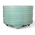 A Longquan celadon tripod censer, Southern Song dynasty (1127-1279)