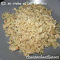 Riz au crabe et lait de coco