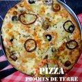 Pizza saumon fumé et pommes de terre