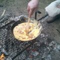Délicieuse omelette au lard