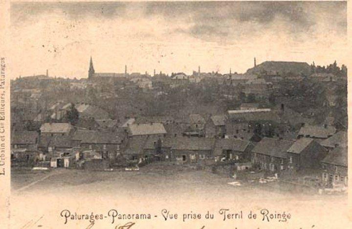 Pâturages - Panorama du Terril du Roinge - carte postale