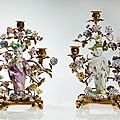 Important Pair of Meissen Candelabras with Chinese Boys, <b>1750s</b>